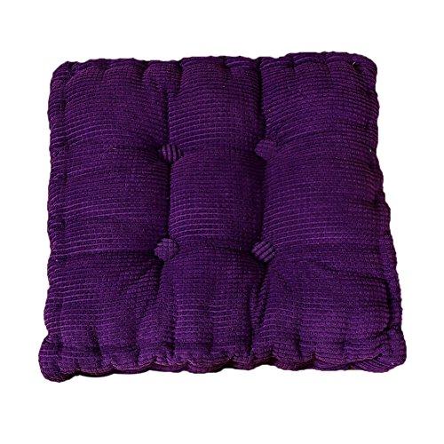 Demarkt Rechteck Sitzkissen Stuhlkissen Kissen für Stühle im Auto oder zu Hause Lila 40*40cm - Sitzkissen Lila