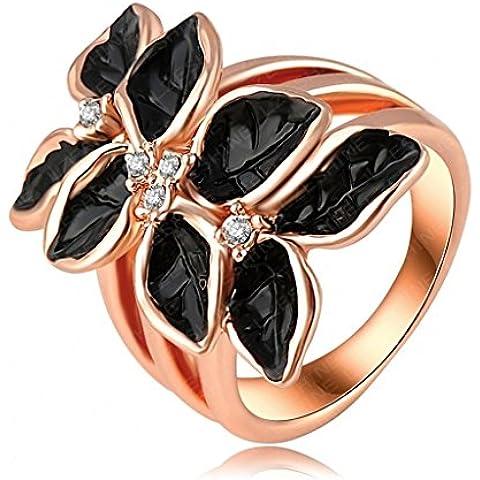 Alimab Gioielli signore Donne di anelli di nozze di anelli di fidanzamento anelli anelli oro oro fiori amore