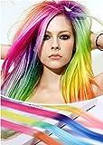 Gradient Bunte Glattes Haar Perücke Dauerwelle zum Cosplay Karneval Fasching Oktoberfest (6 Farben)