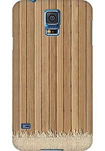 AMEZ designer printed 3d premium high quality back case cover for Samsung Galaxy S5 (Wooden Floor Light Rug Texture iPhone 5 Wallpaper)