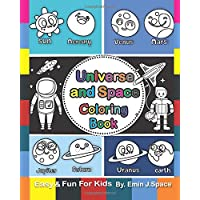 Universe and Space Coloring Book: My First Big Book Solar System words  and  More (Preschool Prep Activity Learning)