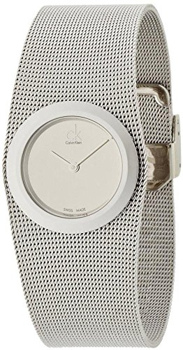 Calvin Klein K3T23126 - Reloj para mujeres, correa de acero inoxidable color plateado