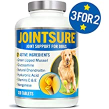 JOINTSURE Joint supplements for dogs | 300 Tablets | With Green Lipped Mussel, Glucosamine & Natural Chondroitin for dog joint care. Aids stiff joints, supports joint structure & maintains mobility.