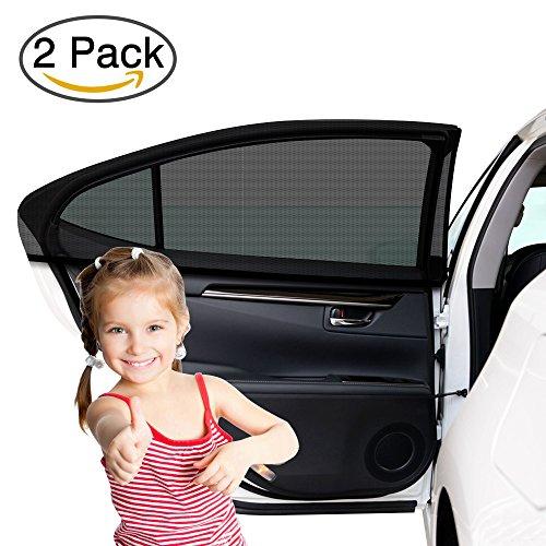 Parsion Auto Fenster Schatten (2 Pack) Auto Sonnenschutz Baby mit UV-Schutz für Ihre Kinder, Hund - Auto Fenster Sun Bezug Ohne klammert Sich an Oder Saugnäpfe, Passend für die Meisten Autos
