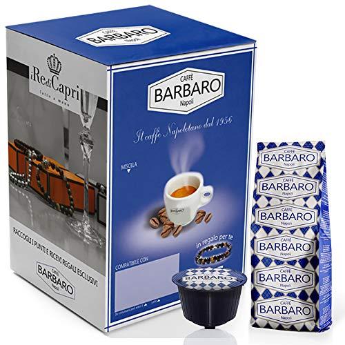 100 capsule dolce gusto barbaro caffe' cremoso napoli miscela blu