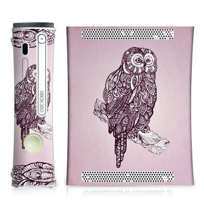 microsoft-xbox-360-skin-vinyl-skin-stickers-protective-film-ornamental-owl