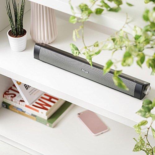 Trust Lino Wireless Soundbar Bluetooth Speaker for Computer, Laptop, TV, Tablet and Smartphone, 20 W - Black