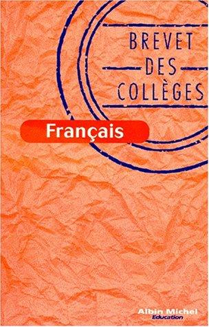 Français, brevet des collèges