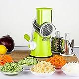 ZREAL Manueller runder Mandolinenhobel Edelstahl Klingen Kartoffelkarotten Julienne Gemüseschneider Käsereibe Küchenwerkzeug
