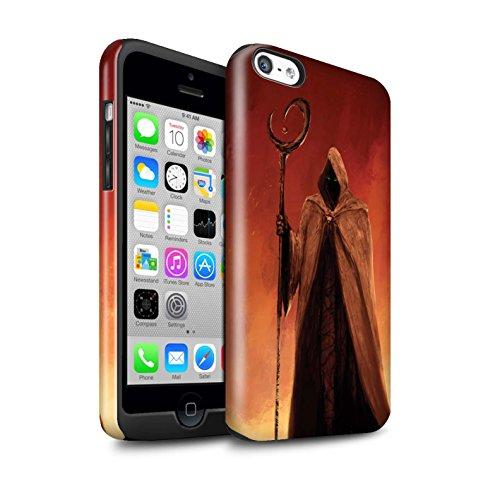 Offiziell Chris Cold Hülle / Glanz Harten Stoßfest Case für Apple iPhone 5C / Kriegsheld/Warlock Muster / Dämonisches Tier Kollektion Gevatter Tod