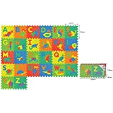 Sunta Alphabet/Animal Mats, 12 inches (Multi Color)