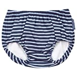 JoJo Maman Bébé - Couche de Bain Rayé Bleu Marine/Bleu 6 à 12 Mois