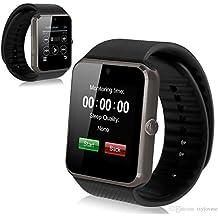 DROMATEC® SW08 Smartwatch Reloj conectado GSM 2G bluetooth SMS Notificación de llamada facebook tweeter whatsapp wechat viber messenger Compatible con Android e IOS Black