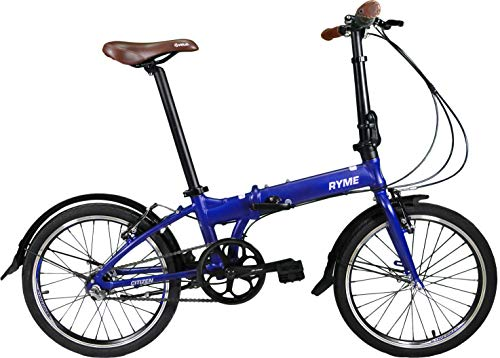 Rymebikes Citizen Bicicleta Plegable, Unisex Adulto, Azul,
