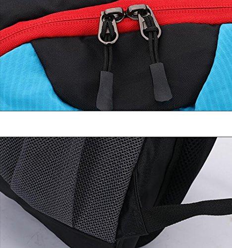 HWLXBB Outdoor Bergsteigen Paket Männer und Frauen 40L Wasserdichte Mehrzweck-Bergsteigen Tasche Wandern Camping Bergsteigen Rucksack 1*