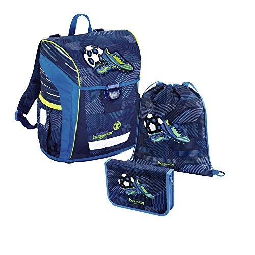 baggymax Schulranzen-Set Niffty 3-tlg Soccer Goal bm soccer goal (Schulranzen 3)