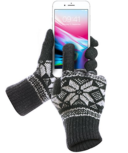 Touchscreen-Handschuhe-GreatShield-COZY-Alle-Finger-Frauen-und-Mnner-Herren-und-Damen-Unisex-Winter-Outdoor-Warme-Touch-Gloves-fr-Handy-Display-Smartphones-Tablette-Gre-SM-GrauRosa