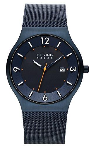 Bering Herren-Armbanduhr Analog Milanaise Blau 14440-393