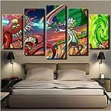 Peintures Sur Toile Pour Le Salon Mur Art Cadre 5 Pièces Affiche HD Prints Animation Comic Images Home Decor