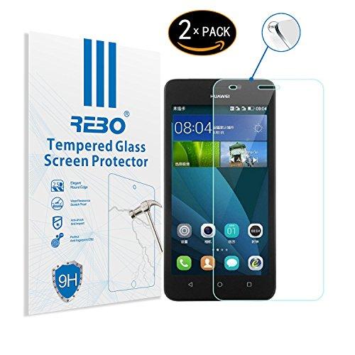 Huawei Y635 Protector cristal templado - RE3O® 2 x Protector de pantalla...