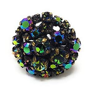 KONPLOTT Ballroom Ring verstellbar, Glas grün -5450543350837