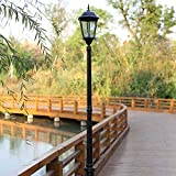 Pointhx 220 centimetri alluminio professionale luce stradale lampada europea antico patio lampada colonna E27 LED cortile alto polo luce paesaggio impermeabile villa terrazza balcone percorso lanterna