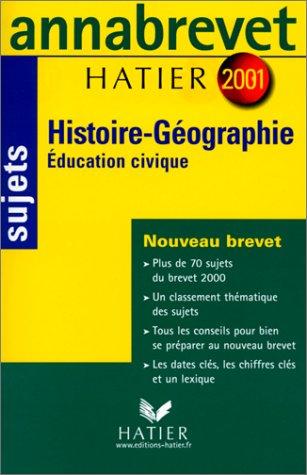 Histoire-Géographie, éducation civique par Jean Brignon
