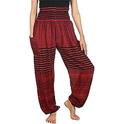 Lofbaz Women's Bohemian Pants Harem Clothing Hippy Boho Style