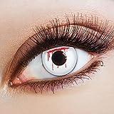 aricona Farblinsen weiße Kontaktlinsen für dein Zombie Kostüm Jahreslinsen für ein Horror Make up & Halloween Augen Make-up
