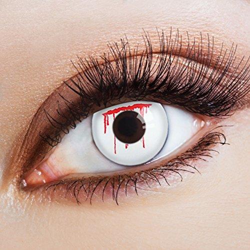 aricona Kontaktlinsen Farblinsen weiße Kontaktlinsen für dein Zombie -