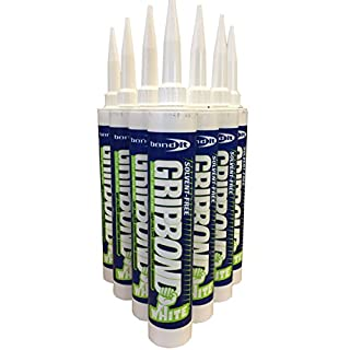 (3 Tube) WHITE Bond It Gripbond Instant Grab Construction Adhesive Gap filling Solvent Free