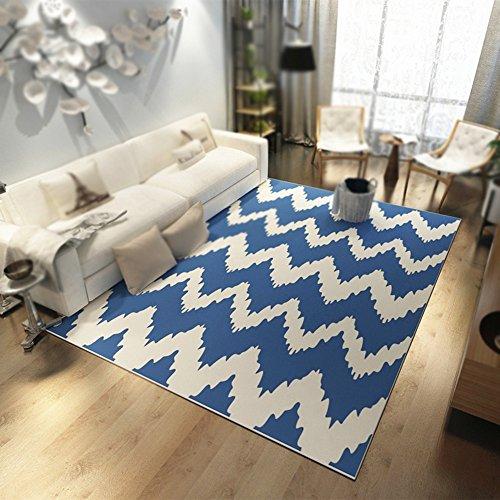 Alfombra moderna a rayas simples / con motivos geométricos Alfombra / sala de estar Mesa de centro Mesilla de noche Alfombra rectangular lavable ( Tamaño : 120*160cm )