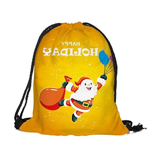Zarupeng Weihnachten Bedruckte Bundle Taschen Rucksack Süßigkeiten Geschenk Tasche D