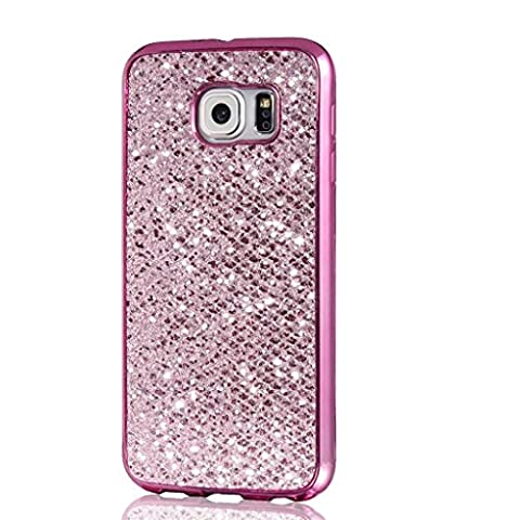 MUTOUREN Samsung Galaxy S6 Edge TPU Silicone Case Silicone tpu bumper anti-Shock Scratch Resist Protective durable Clear transparent Creative Pattern Cover Case-purple