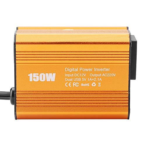 150w Power Inverter (Akozon Power Inverter JW-150W DC12V zu AC110V / 220V Netzteil-Hochsetzsteller Step-up-Modul(12V bis 220V))