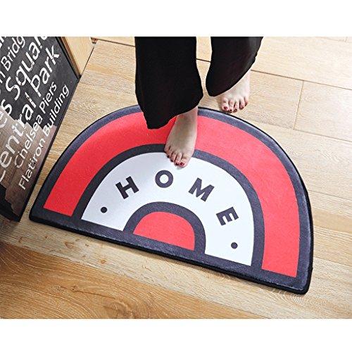 Matratze Schlafzimmer Cartoon Home Eingang Halbkreis Osmanischen Foyer Badezimmer Tür Wasser Saugfähigen Mat Badezimmer Bad Tür Matte (Farbe : B, Größe : 50*80CM) (Osmanische Matratze)
