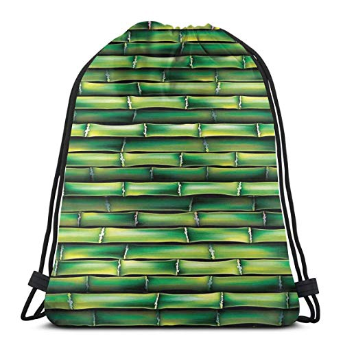 de67582a036c Jiger Drawstring Tote Bag Gym Bags Storage Backpack, Image of Horizontal  Asian Bamboo Tree Stems Zen Style Image of Asian Nature Inspired,Very  Strong ...