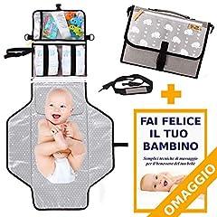 Idea Regalo - Fasciatoio Portatile BABYTREASURE - IN OMAGGIO Tracolla e Volume