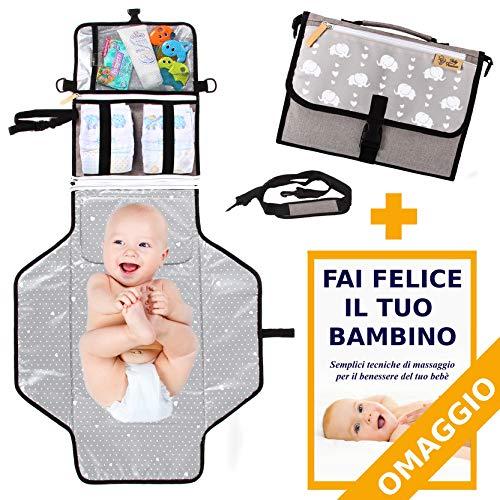 Fasciatoio portatile babytreasure - in omaggio tracolla e volume
