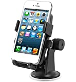 VORRIC Windscreen and Dashboard Universal Car Mount. Suitable for Apple iPhone 6 5 5S 5C 4 4S, Samsung Galaxy S5 S4 S3 S2 and Most Smartphones and GPS Devices.