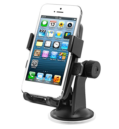VORRIC Windscreen Dashboard Universal Car Mount for most smart phones and GPS Devices. Suitable for Apple iPhone 5 5S 5C 4 4s Samsung Galaxy S4 S4 Mini S4 Active S3 S3 Mini S2 II Galaxy Ace Plus LG Nexus 4 Blackberry Z10 Q10, HTC One M7 S V X X+, HTC First Desire C/X HTC 7 8S 8X Windows Phone Sony Xperia Z T U E Nokia Lumia 520 620 720 820 920 928 1020 Motorola Moto X (Gps Car Window Mount)