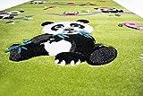 Traum Kinderteppich Spielteppich Kinderzimmerteppich Panda mit Eulen Schmetterlinge und Vögeln in Grün, Größe 120x170 cm für Traum Kinderteppich Spielteppich Kinderzimmerteppich Panda mit Eulen Schmetterlinge und Vögeln in Grün, Größe 120x170 cm