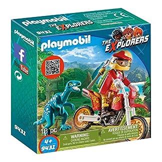Playmobil The Explores Moto con Velociraptor