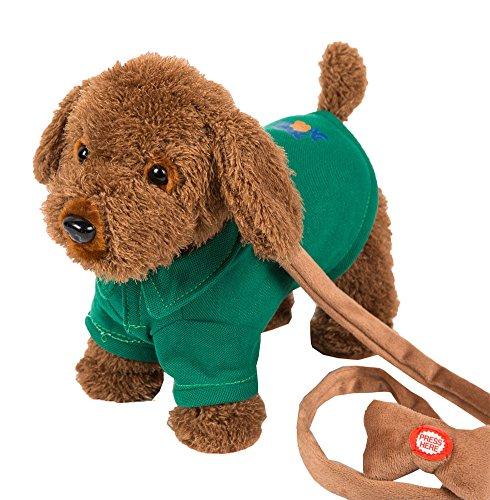 Regalo de los niños que camina cantando el perro del perrito del juguete