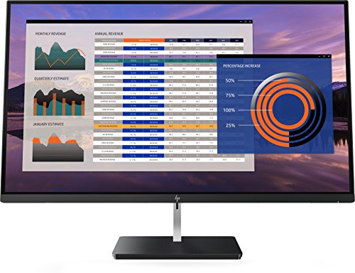 "HP EliteDisplay s270n - Monitor de 27"" 4K ajustable en altura (UHD 4K antireflejo, 3840 x 2160 a 60 Hz, IPS LED. 350cd/m, 5,4 ms, 16:9, 1 x HDMI 1.4, 1 x HDMI 2.0, 1 x DisplayPort 1.2, 1 x USB-C)"