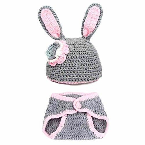 Säuglingstierkostüm weiche handgemachte gestrickte Newborn Wolle Crochet Fotografie Props Baby-Kleidung