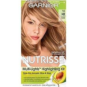 Garnier Kit nuanceur (mèches) Nutrisse Multi-Lights - Pour cheveux blond foncé à châtain clair - Formule enrichie d'huile d'avocat - H2 Toffee Swirl (Blond doré)