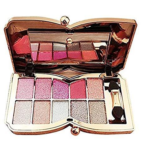 Les marques de Kent Professional Natural Nudes Diamant étincelant 10 couleurs Palette ombres à paupières Lot de brosse Cosmétique de maquillage