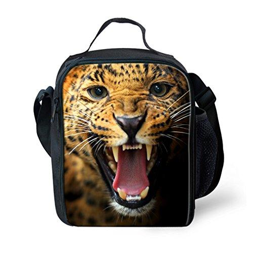 KIdS Isolierte Mittagessen Taschen Für Lebensmittel Kinder 3D Cheetah Lunch Tote Box Mit Schulter Verstellbaren Riemen -
