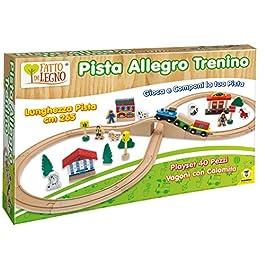 Teorema 40505 – Pista Allegro Trenino in Legno, 40 Pezzi